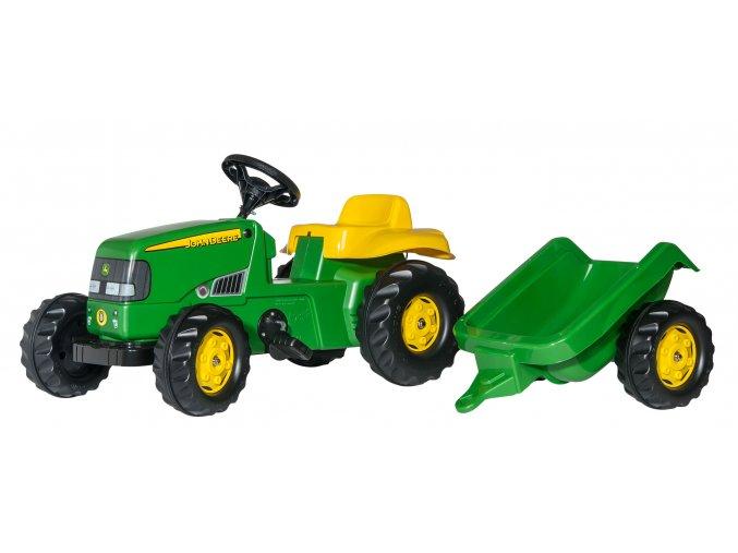 ROLLY TOYS Dětský šlapací traktor John Deere s přívěsem