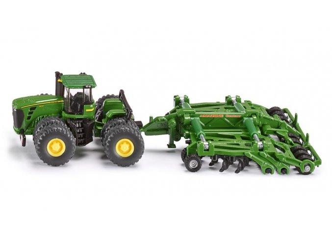 Siku traktor John Deere 9630 s Amazone Centaur 1:87