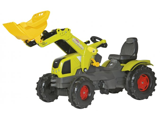 Rolly Toys šlapací traktor Claas Axos 340 s nakladačem
