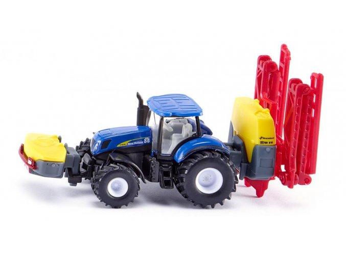 Siku traktor New Holland s postřikovačem 1:87