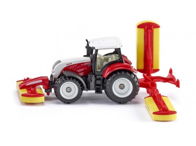 SIKU traktor STEYR S PÖTTINGER ŽACÍ KOMBINACÍ 1:87