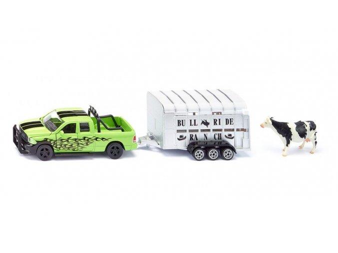 Siku Pick up RAM 1500 s přívěsem pro zvířata