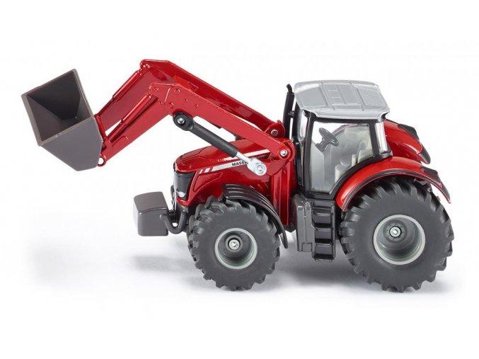 Siku traktor Massey Ferguson s čelním nakladačem 1:50