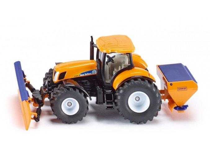 Siku Traktor Se sněžným pluhem a rozmetadlem soli