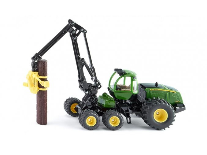 SIKU lesní traktor JOHN DEERE HARVESTER 1:50