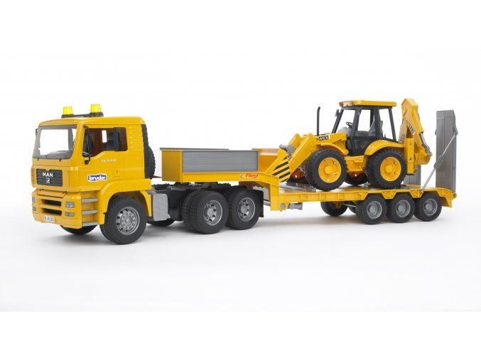 Bruder 2776 Nákladní auto MAN TGA Trailer s traktorbagrem JCB 4CX