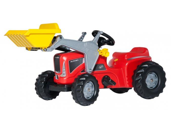ROLLY TOYS Futura šlapací traktor červený s nakladačem