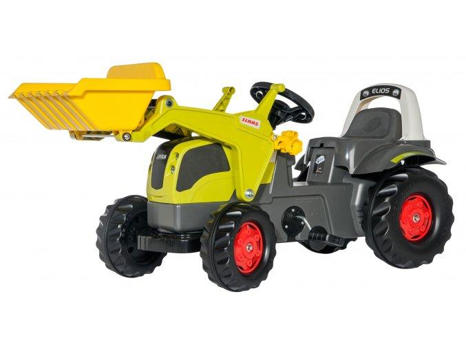 ROLLY TOYS šlapací traktor CLAAS ELIOS s čelním nakladačem
