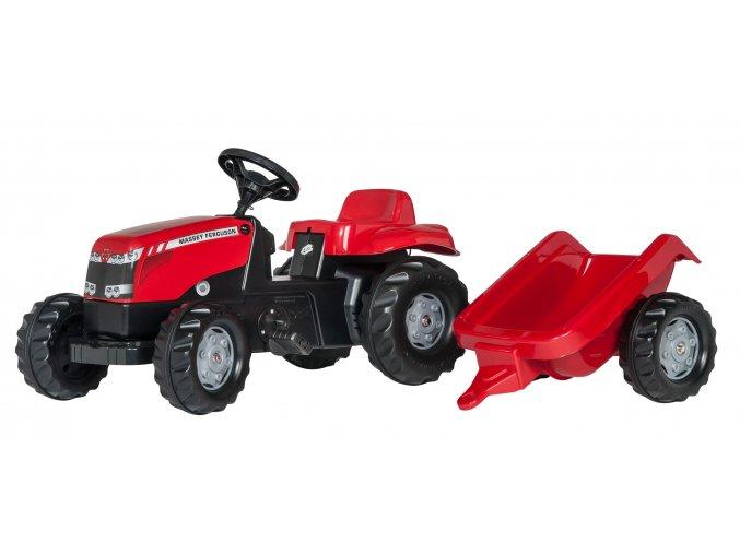 ROLLY TOYS šlapací traktor MASSEY FERGUSON s přívěsem