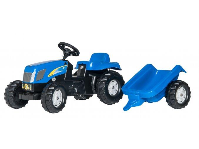 ROLLY TOYS šlapací traktor NEW HOLLAND s přívěsem