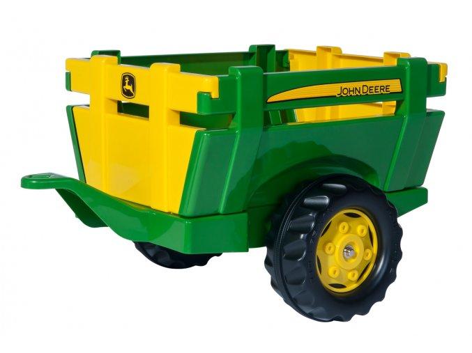 ROLLY TOYS Vlečka za traktor 1osá zelený přívěs FARM TRAILER JD