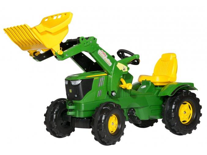Rolly Toys šlapací traktor John Deere 6210 R s čelním nakladačem