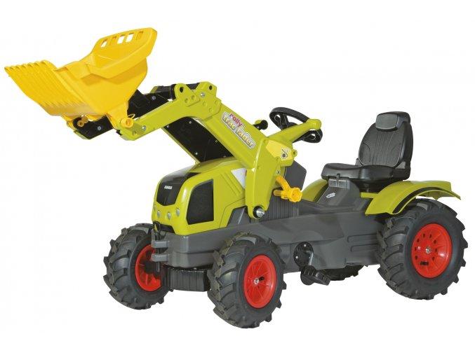 Rolly Toys šlapací traktor Claas Axos 340 s čelním nakladačem a pneumatikami