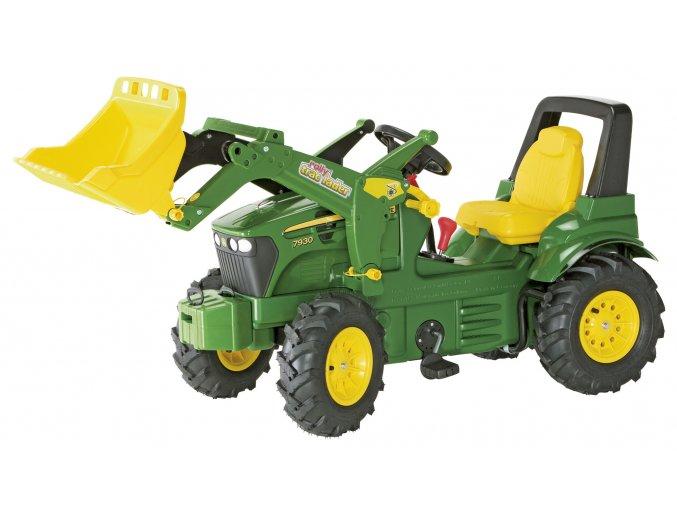 Rolly Toys šlapací traktor John Deere 7930 s pneumatikami a řazením
