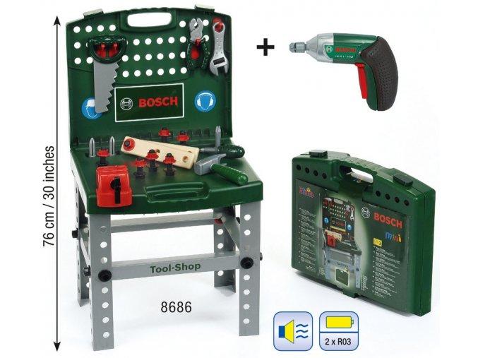 Klein Bosch přenosný pracovní stůl s nářadím a Ixolino II