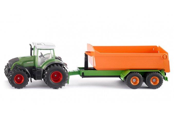 SIKU Farmer Traktor Fendt s vlekem 1:50