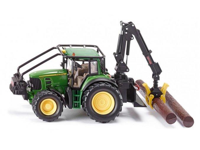 Siku John Deere lesnický traktor 1:32