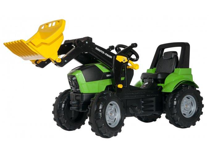 Rolly Toys šlapací traktor Deutz Agrotron 7250 TTV s nakladačem