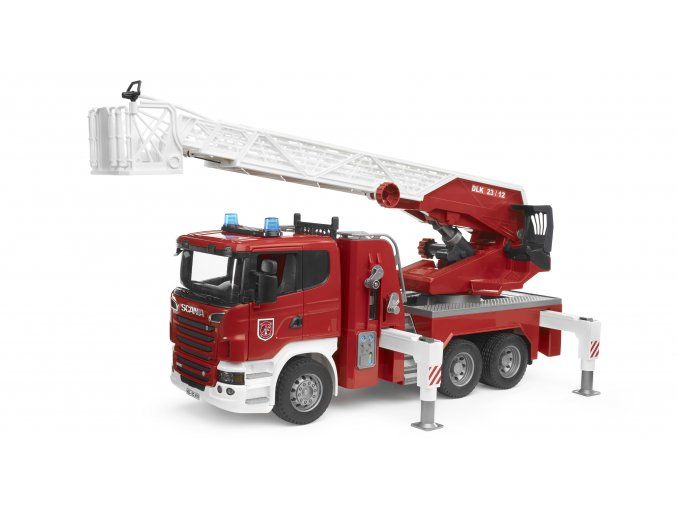 BRUDER 3590 Požární auto SCANIA R-Serie s vysunovacím žebříkem