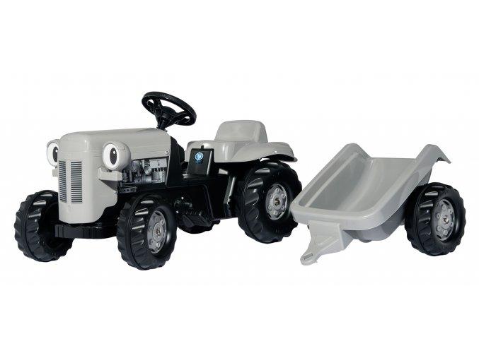 Rolly Toys Dětský šlapací traktor RollyKid Little Grey Fergie s přívěsem