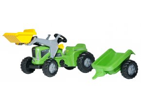Rolly Toys šlapací traktor Futura Trac zelený s nakladačem a přívěsem