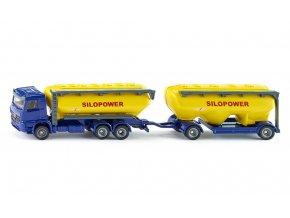 Siku nákladní auto s přívěsem se silem na krmivo 1:87