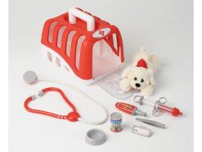 Klein Zvěrolékařský kufr-Set s přepravním boxem a plyšovým psem