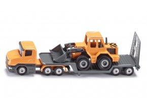 Siku nákladní auto s podvalníkem a nakladačem 1:87
