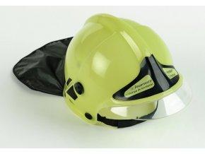 Klein hasičská helma, neonová