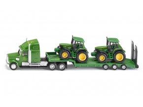 Siku Podvalník se dvěma traktory John Deere 6920 1:87