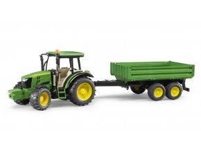 BRUDER 2108 Traktor John Deere 5115 M s valníkem