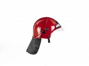 Klein Hasičská helma s hledím, červená
