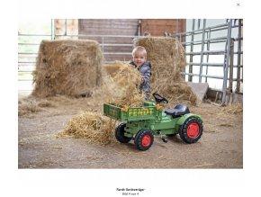 BIG 56551 zelený šlapací traktor Fendt s vyklápačkou a klaksonem