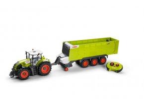 RC Traktor CLAAS Axion 870 s přívěsem Cargos 9600 1:16