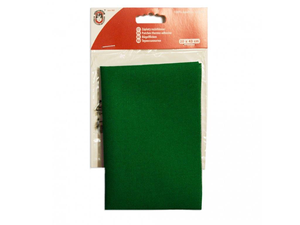 Nažehlovací záplata Koh-I-Noor - 100% bavlna, tmavě zelená