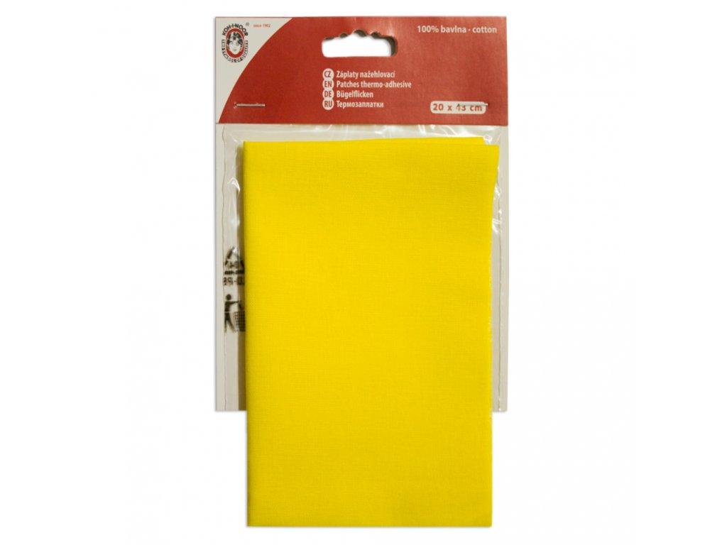 Nažehlovací záplata Koh-I-Noor - 100% bavlna, žlutá