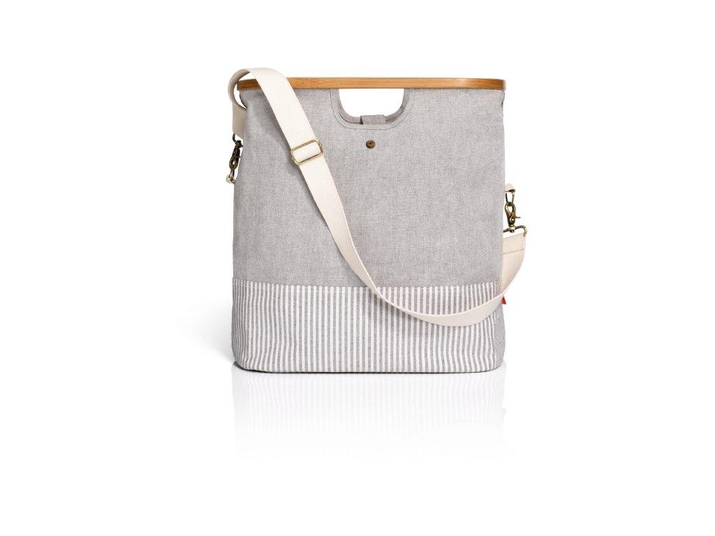 Cestovní taška Canvas & Bamboo 612560 S šedá