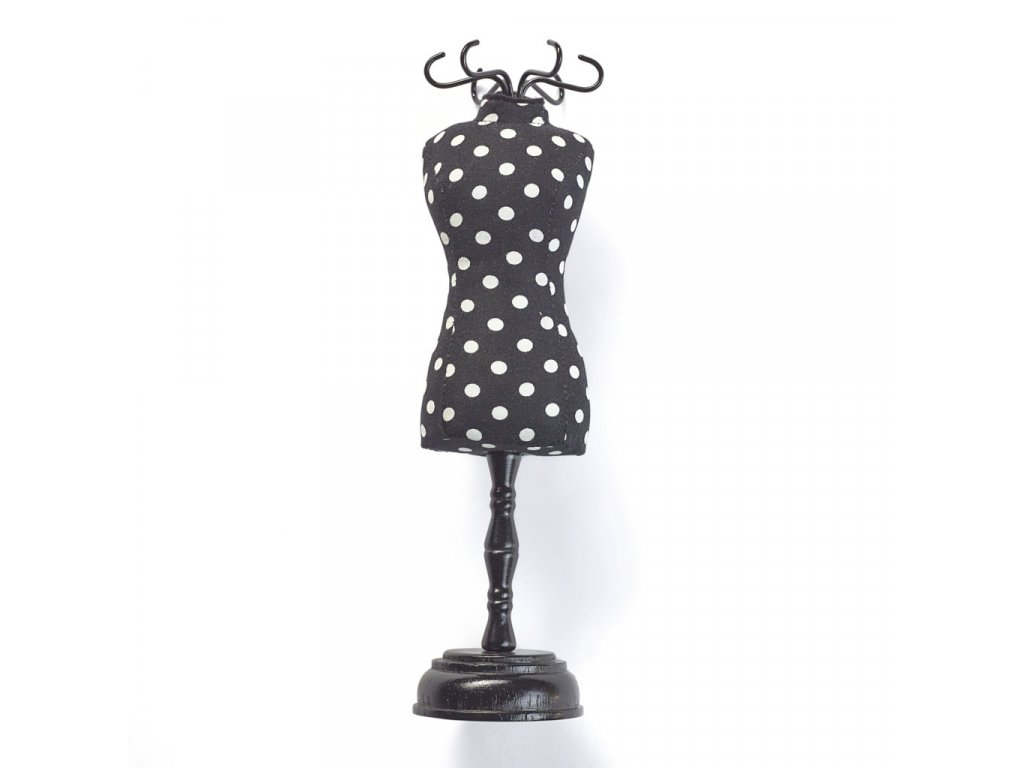 Prym Jehelníček - krejčovská panna Polka Dots Black & White 610319