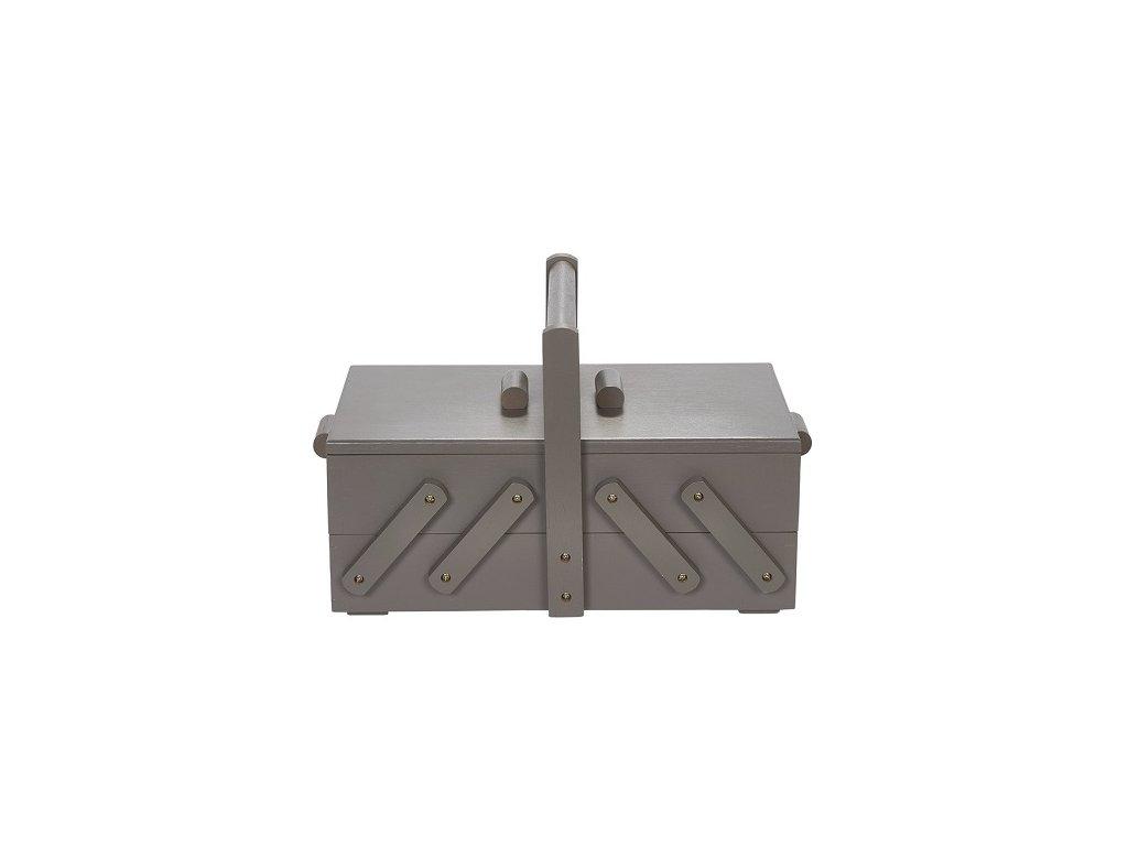 Kazeta na šití rozkládací šedé dřevo S 612583