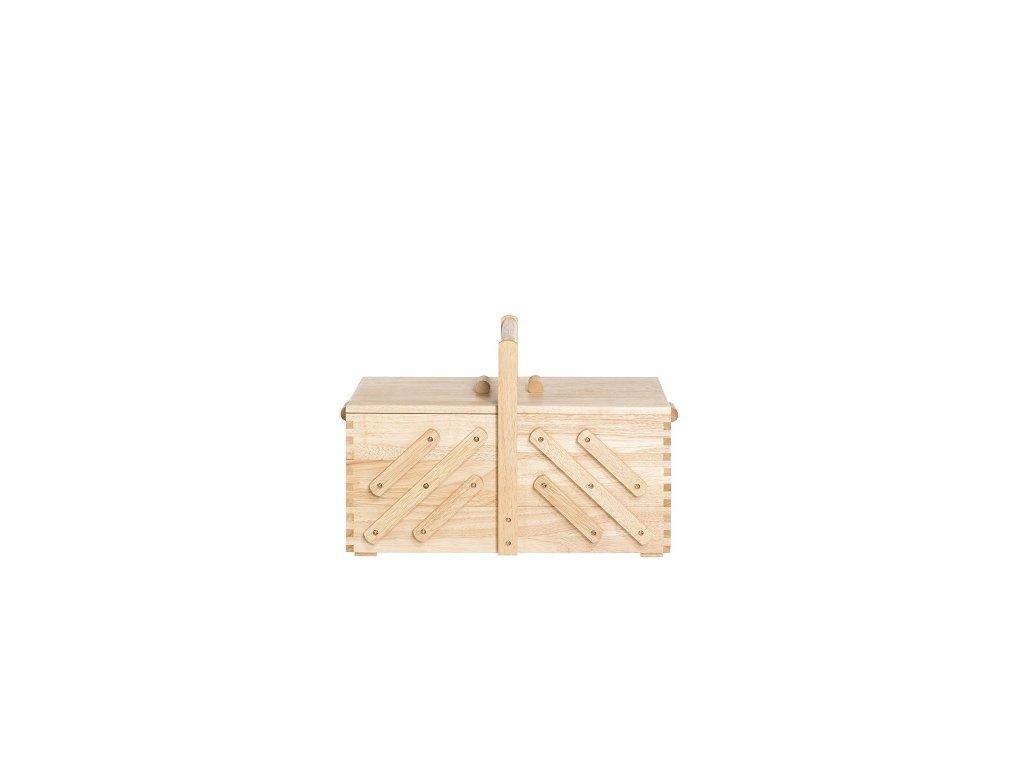 Kazeta na šití rozkládací světlé dřevo L 612548
