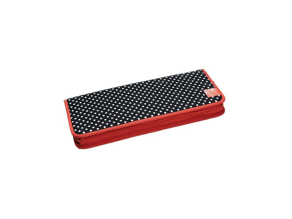 Prym Pouzdro na háčky a jehlice Polka Dots Black & White 612181