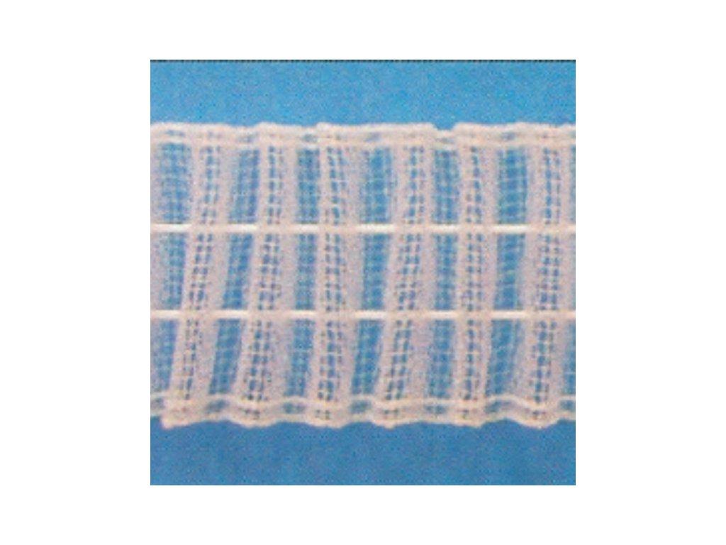 Stuha záclonová 24923 transparentní, tužková, s řasením 1:3 bal. 50m