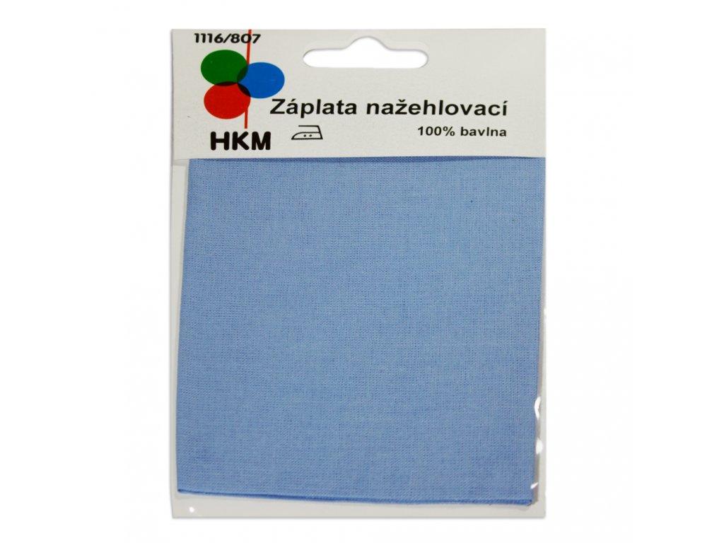 Nažehlovací záplata 100% bavlna - světle modrá