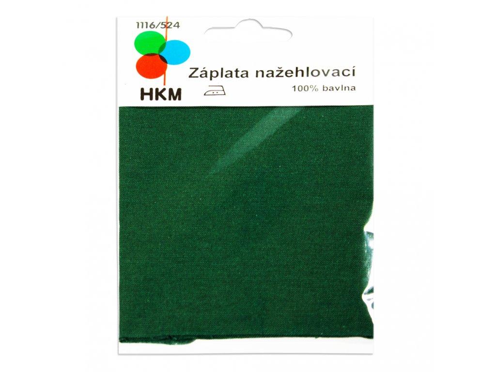 Nažehlovací záplata 100% bavlna - zelená