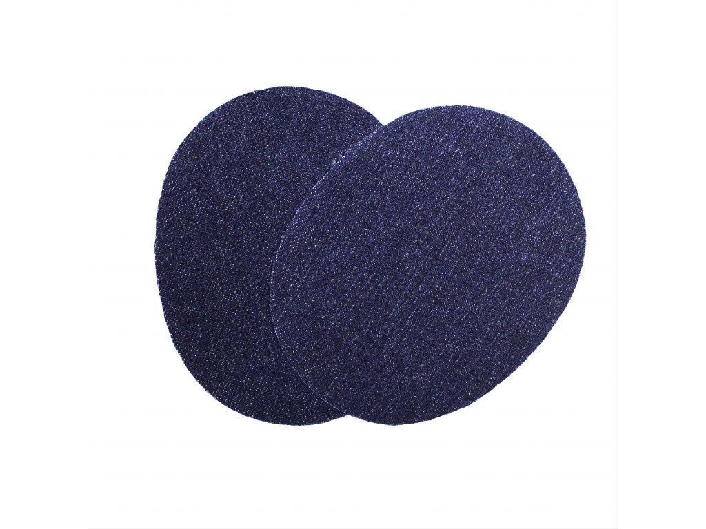 Nažehlovací záplata jeans ovál, 2ks/kt art. 72/2