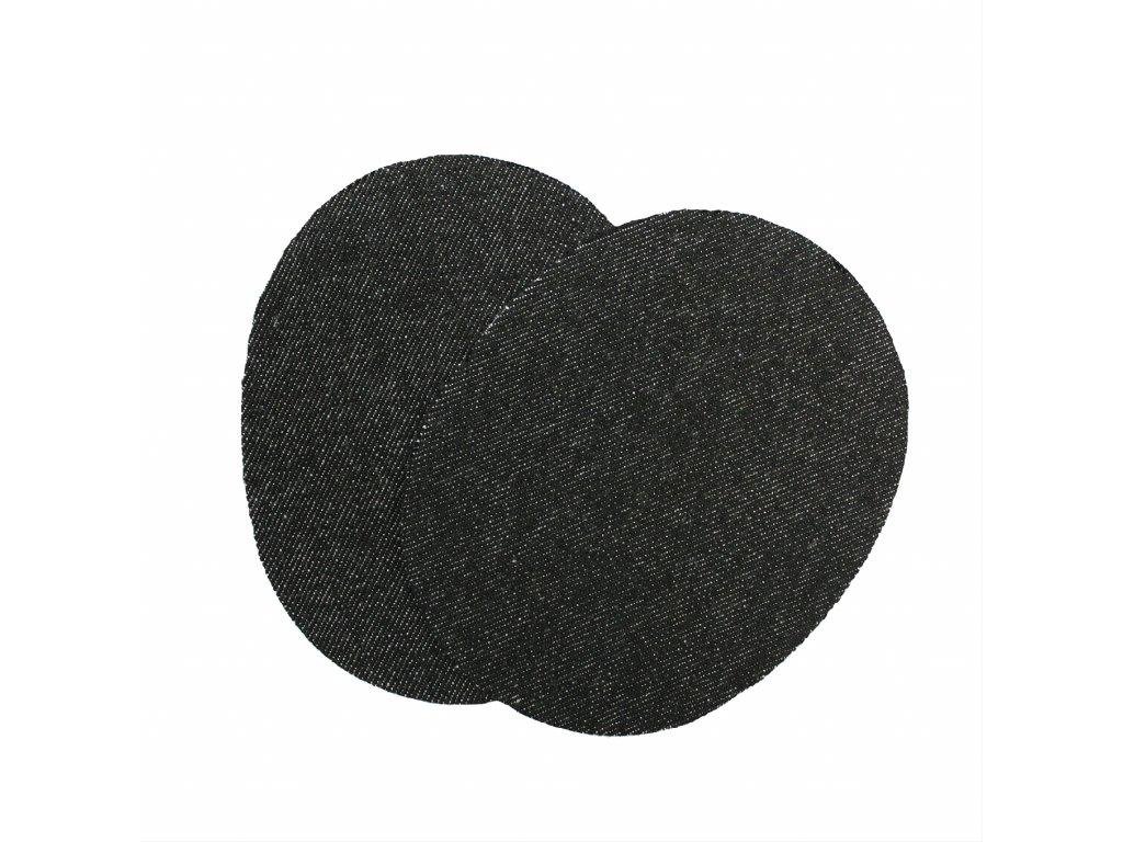 Nažehlovací záplata jeans ovál, 2ks/kt art. 72/3