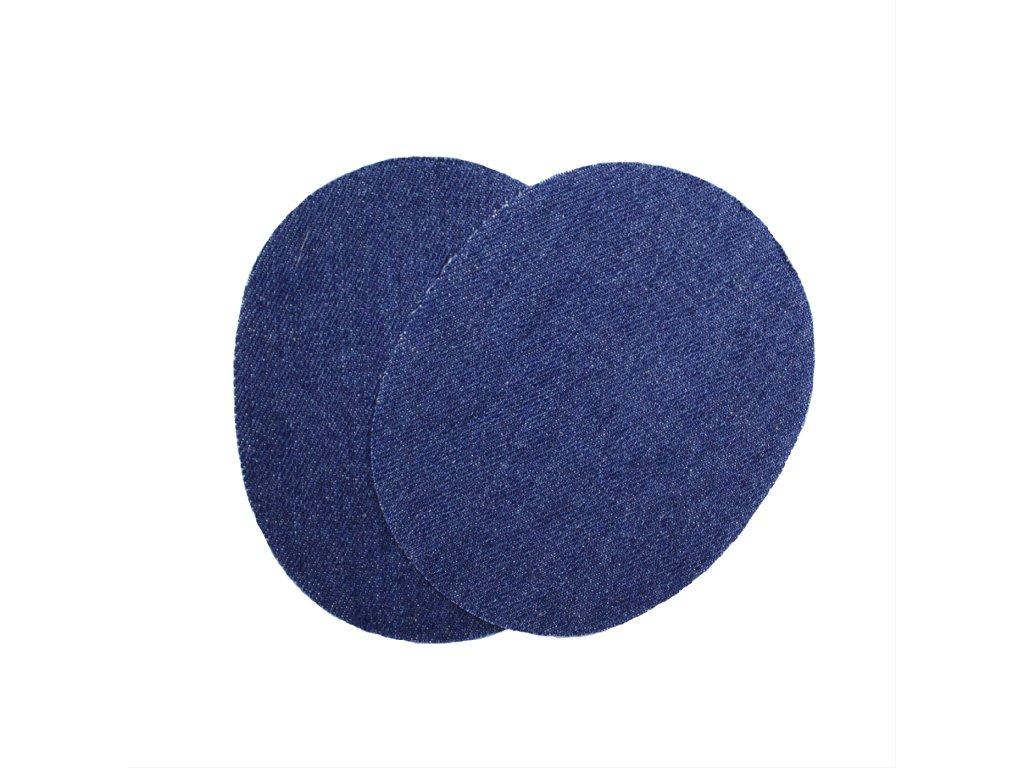 Nažehlovací záplata jeans ovál, 2ks/kt art. 72/4