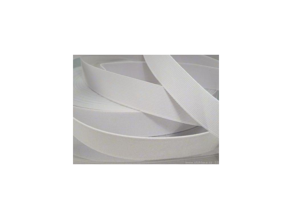 Pruženka oděvní šíře 25mm bílá 367025