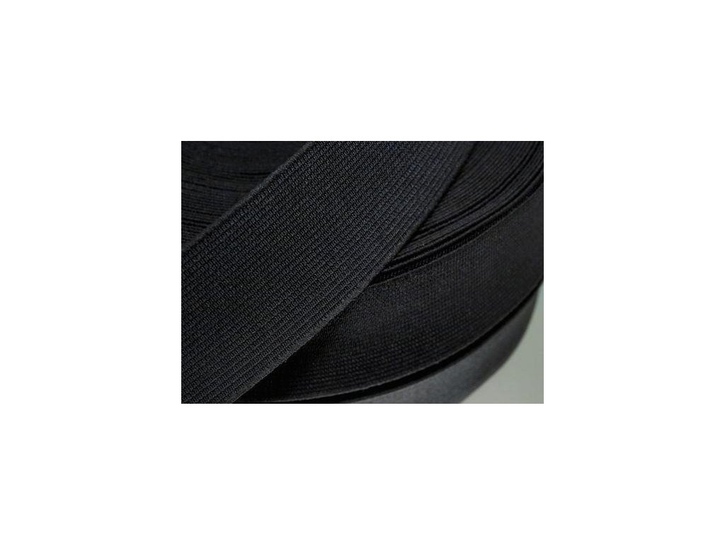 Pruženka oděvní šíře 45mm černá 367045