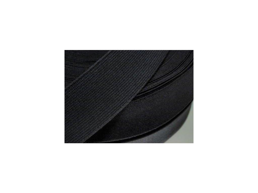 Pruženka oděvní šíře 60mm černá 367060
